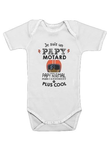 Papy motard dla Baby short sleeve onesies