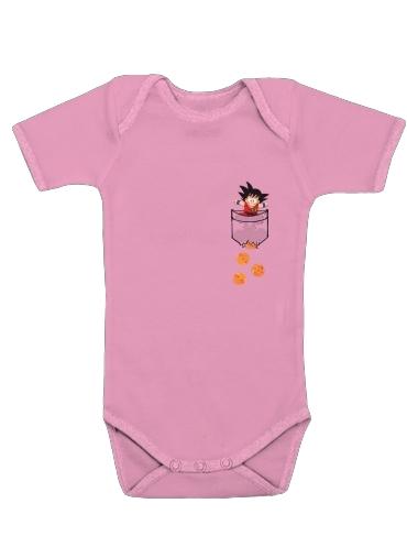 Baby Onesie Pocket Collection  Goku Dragon Balls pink - Kids 3debb6cbf7b7