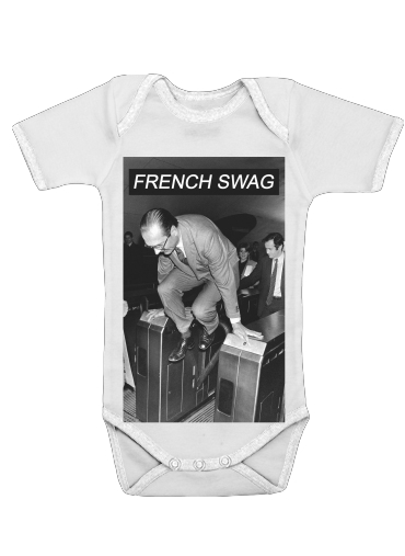 Onesies Baby President Chirac Metro French Swag