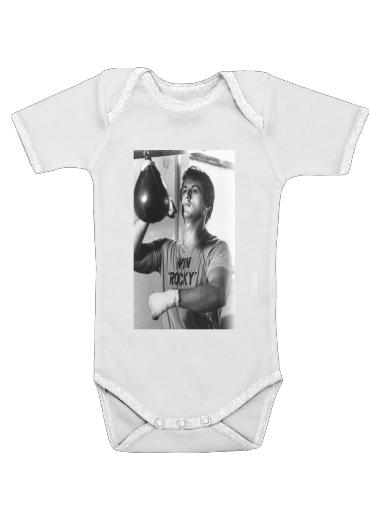 Onesies Baby Rocky Balboa Training Punchingball