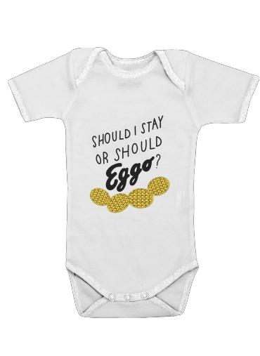 Should i stay or shoud i Eggo för Baby short sleeve onesies