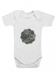 Baby Onesie Silver glitter bubble cells