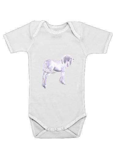 Silbernes Einhorn für Baby Body