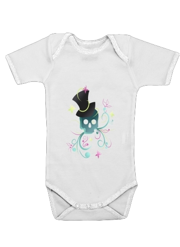 Body Bébé manche courte Skull Pop Art Disco