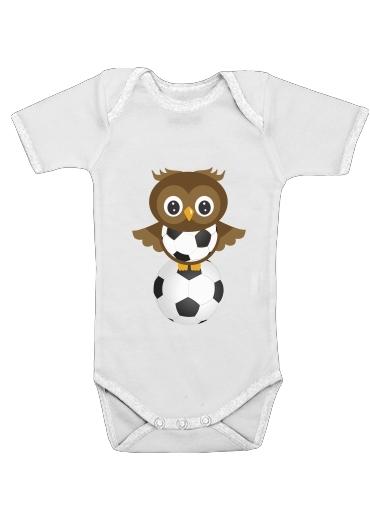 Soccer Owl dla Baby short sleeve onesies