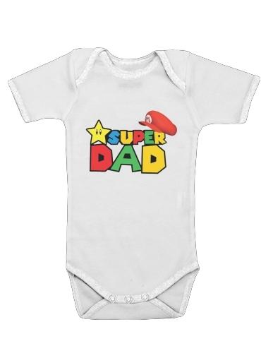 Super Dad Mario humour für Baby Body