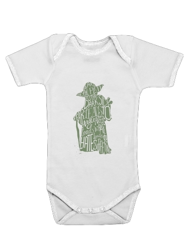 Body Bébé manche courte Yoda Force be with you