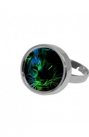 Ring Abstract neon Leopard