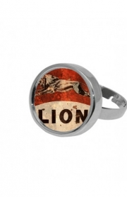 Ring Vintage Gas Station Lion