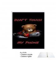 Classeur Rigide Don't touch my phone