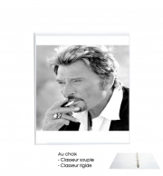 Classeur Rigide johnny hallyday Smoke Cigare Hommage