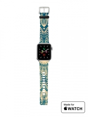 Bracelet pour Apple Watch Blue Organic boho mandala