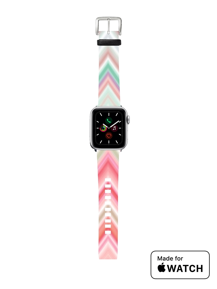 Bracelet pour Apple Watch colorful chevron in pink