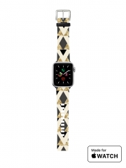 Bracelet pour Apple Watch Glitter Triangles in Gold Black And Nude