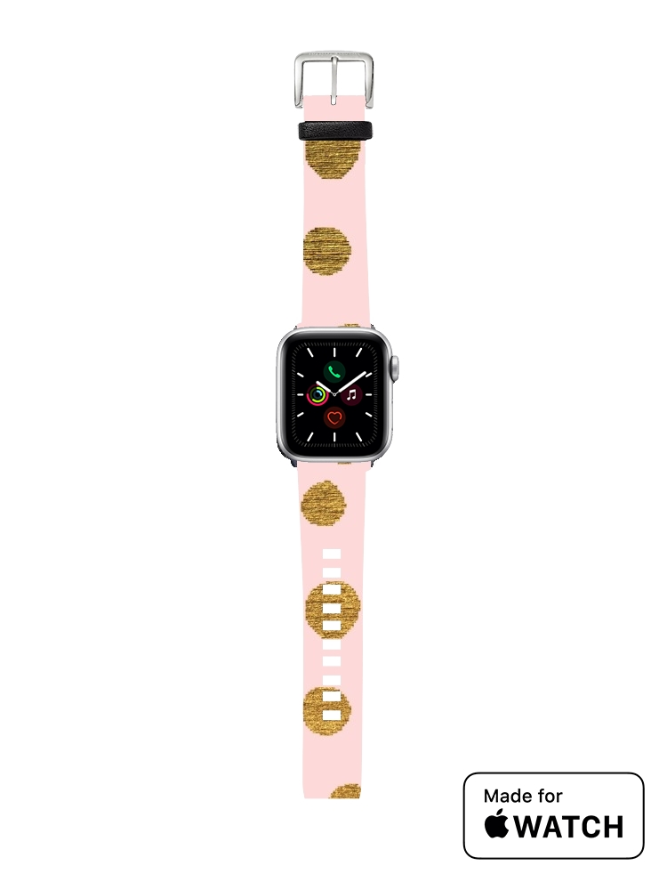 Bracelet pour Apple Watch Golden Dots And Pink
