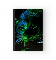Notebook Abstract neon Leopard