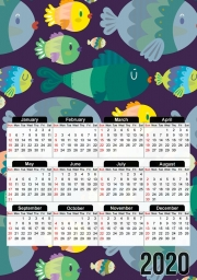 Calendrier Fish pattern