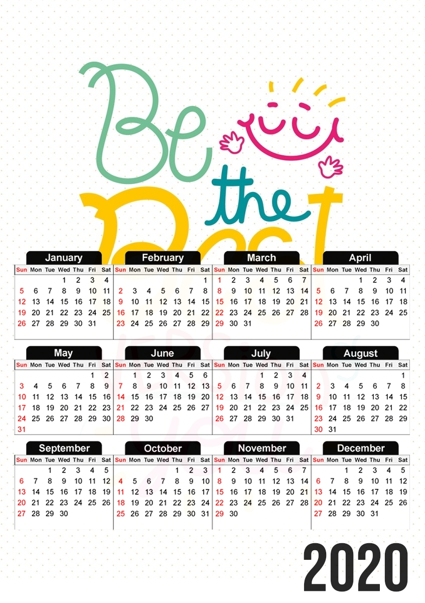 Calendrier Phrase : Be the best version of you