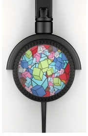 Headphone Stereo Abstract Cool Cubes