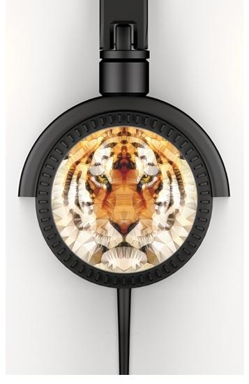 abstract tiger voor hoofdtelefoon