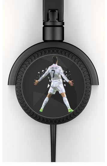 Cristiano Ronaldo Celebration Piouuu GOAL Abstract ART voor hoofdtelefoon