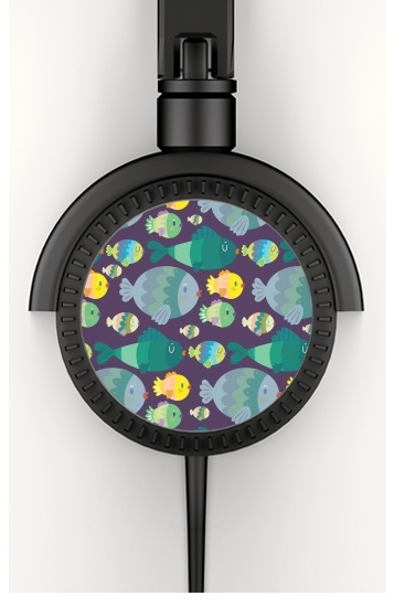 Headphone Stereo Fish pattern