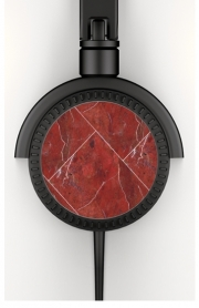 Headphone Stereo Minimal Marble Red