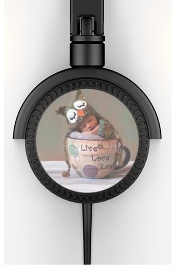 Painting Baby With Owl Cap in a Teacup voor hoofdtelefoon