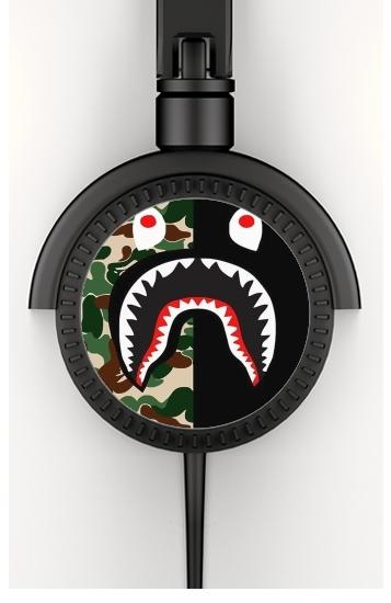 Shark Bape Camo Military Bicolor voor hoofdtelefoon