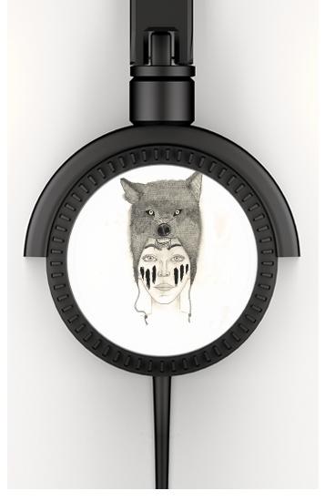 Wolf warrior voor hoofdtelefoon