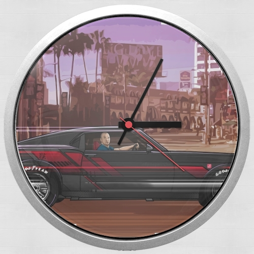 Wall clock A race. Mustang FF8