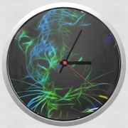 Wall clock Abstract neon Leopard