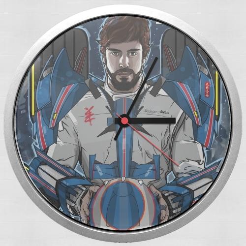 horloge alonso mechformer racing driver murale personnalis e. Black Bedroom Furniture Sets. Home Design Ideas