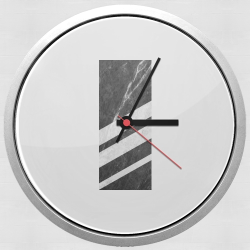 Black Striped Marble for Wall clock
