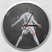 Horloge Murale Cristiano Ronaldo Celebration Piouuu GOAL Abstract ART