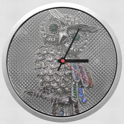 Diamond Design Wall Clock : Diamond owl for wall clock