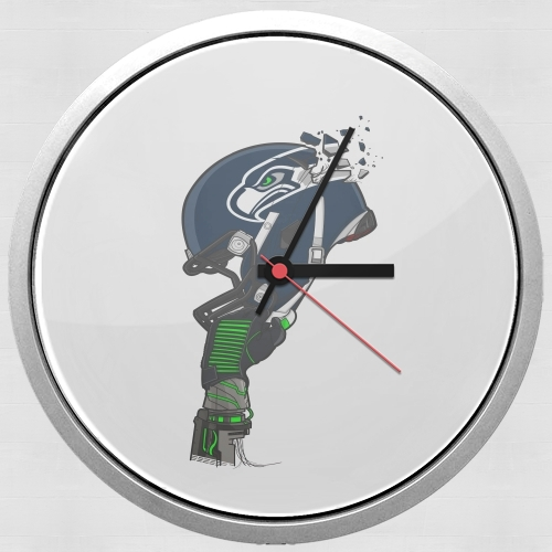 Wall clock Football Helmets Seattle