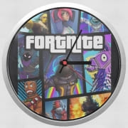 Wall clock Fortnite - Battle Royale Art Feat GTA