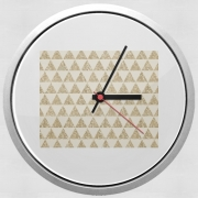 Horloge Murale Glitter Triangles in Gold