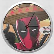 Wall clock Mexican Deadpool