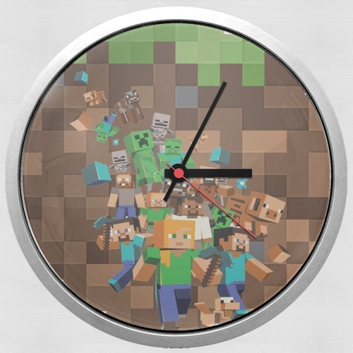 Minecraft Creeper Forest for Wall clock