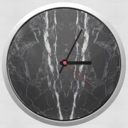 Wall clock Minimal Marble Black