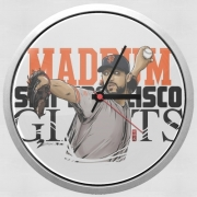 Wall clock MLB Stars: Madison Bumgarner - Giants San Francisco