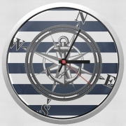 Horloge Murale Navy Striped Nautica