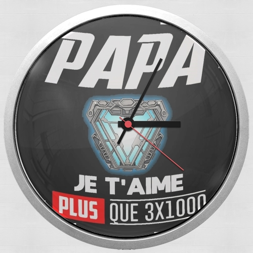 Papa je taime plus que 3x1000 for Wall clock