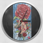 Wall clock Red Roses