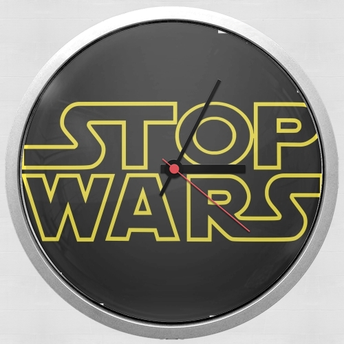 Wall clock Stop Wars