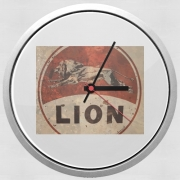 Wall clock Vintage Gas Station Lion