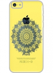 Coque Iphone 5C Transparente BOHOCHIC MANDALA IN BLUE