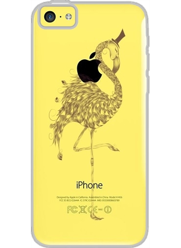 Coque Iphone 5C Transparente Flamingo